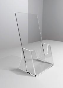 Szórólaptartó asztali